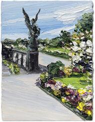 """Bild """"Park Sanssouci, Ein Engel hält Wache vor der Großen Orangerie"""" (2016) (Unikat)"""