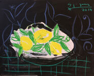 "Bild ""Nature morte aux citrons"" (2014) (Original / Unikat), ungerahmt"