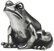 """Skulptur """"Froschkönig"""", Version versilbert"""