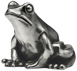 "Sculpture ""Frog Prince"", silver-plated version"