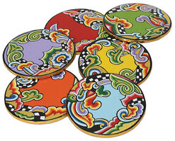 """""""6 Saucers"""", Painted by Hand"""