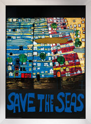 "Painting ""(777S) Save the Seas"", Framed"