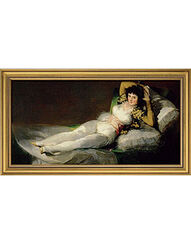 """Bild """"Die bekleidete Maja"""" (1800-1803), gerahmt"""