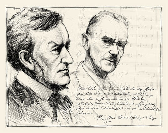 "Andreas Noßmann: Picture ""Love without Faith - Thomas Mann and Richard Wagner"" (2011)"
