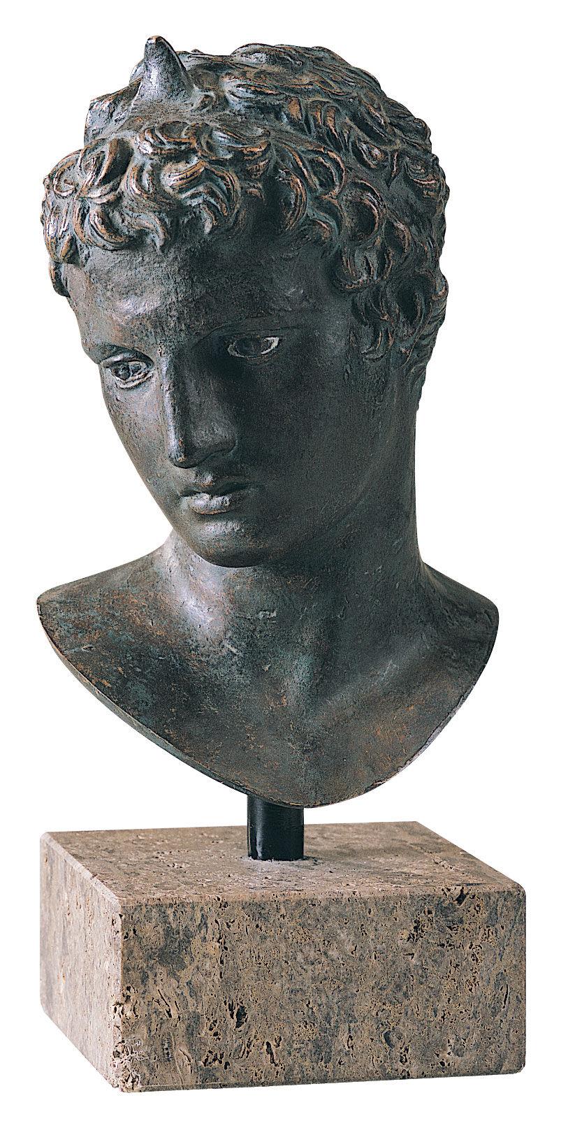 Praxiteles Head of the Ephebe of Marathon Museum Replica