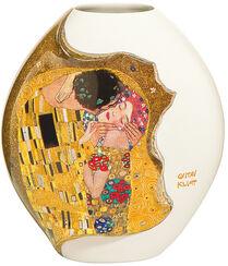 """Porzellanvase """"Der Kuss"""" mit Golddekor (klein, Höhe 14 cm)"""