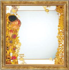 """Wandspiegel """"Der Kuss"""" mit Goldelementen"""