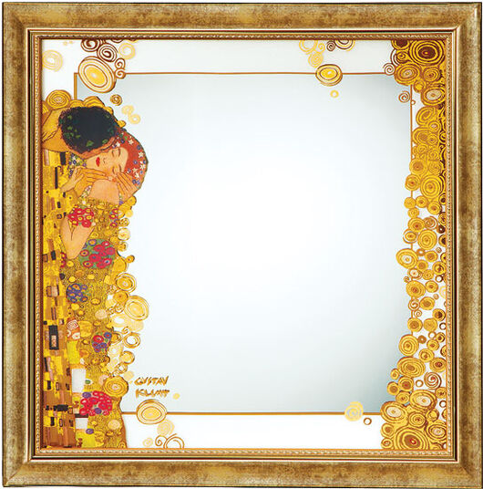 "Gustav Klimt: Wall mirror ""The Kiss"""