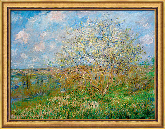 "Claude Monet: Painting ""The Spring"" (1880/82) in gallery framing"