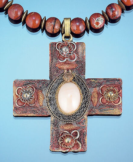 Petra Waszak: Roman cross necklace 'Luna'