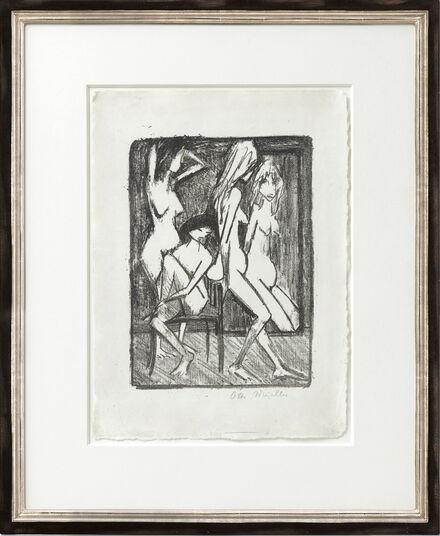 """Otto Mueller: Bild """"Drei Mädchen vor dem Spiegel"""" (1922)"""