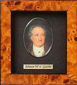 Miniature portrait of Johann Wolfgang von Goethe (1749-1832)