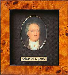 "Miniatur-Porzellanbild ""Johann Wolfgang von Goethe"" (1749-1832), gerahmt"