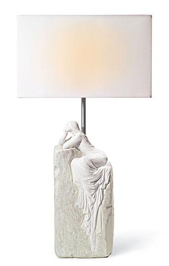 Lladró: Table lamp 'Meditating Woman II'