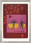 """Bild """"Ginkgo Blatt"""" (1997), gerahmt"""