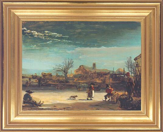 """Rembrandt: Bild """"Winterlandschaft"""" (1646), gerahmt"""