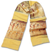 Wild silk shawl 'Luxor'