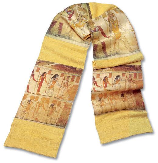 Petra Waszak: Wild silk shawl 'Luxor'