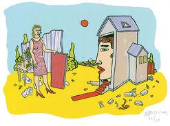 """Bild """"Das Haus"""", ungerahmt"""