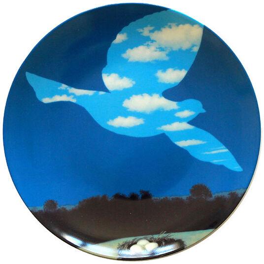 """René Magritte: Porzellanteller """"Le Retour"""""""