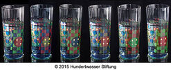 "6-pieces set ""Rainy Day Water Glasses"" with book"