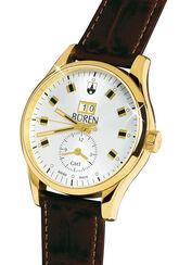 Büren Grande Date GMT, vergoldet