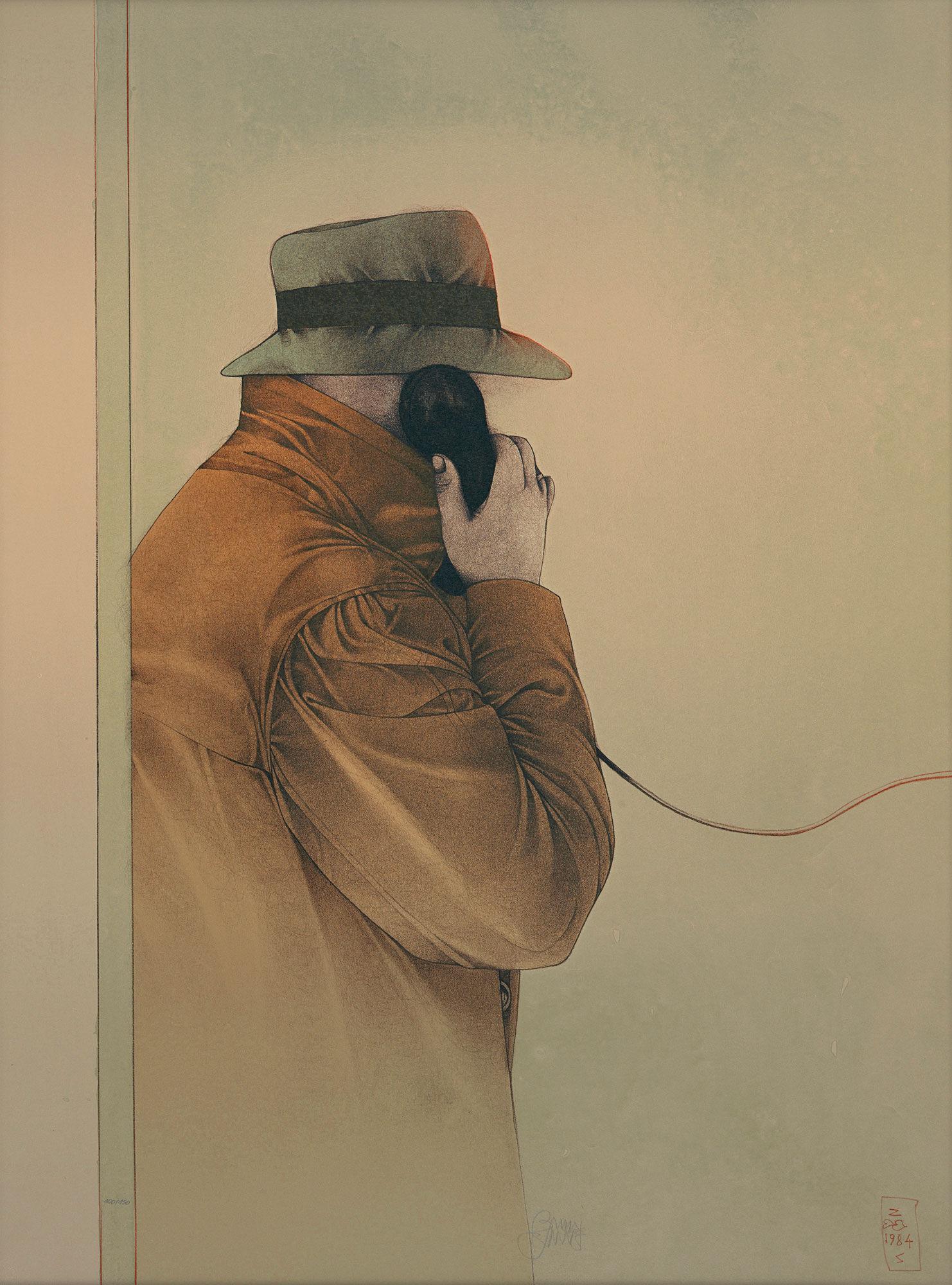"Picture ""A decisive call"" 1985"