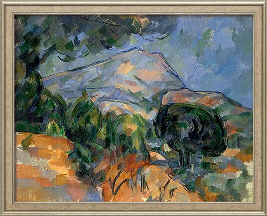 "Paul Cézanne: Painting ""La Montagne Sainte-Victoire"" (around 1894) in gallery framing"