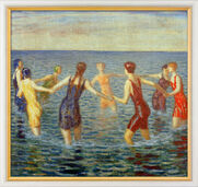 """Bathing women"" (around 1920) picture in frame"