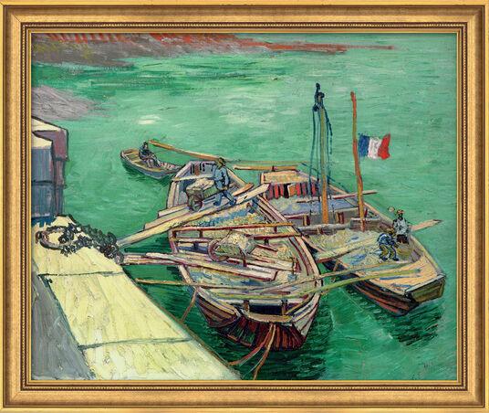 """Vincent van Gogh: Bild """"Rhonebarken"""" (1888), gerahmt"""