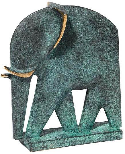 """Raimund Schmelter: Skulptur """"Elefant"""", Bronze"""