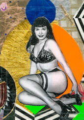 "Bild ""Betty Page"" (2014) (Unikat)"