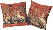 "2 Cushion covers ""The Lady and the Unicorn"", in a set"