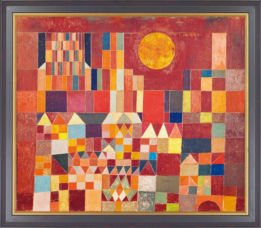 "Paul Klee: Painting ""Burg and Sun"" (1928)"