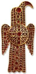 Ostgotische Adlerfibel Gürtelschnalle, Bronze vergoldet