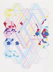 """Bild""""Dislocation of the dislocated 6 sections"""" (1970)"""