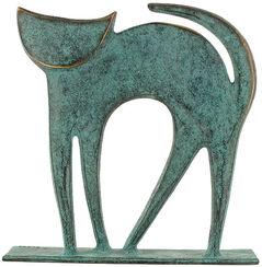 "Tierplastik ""Katze"", Bronze"