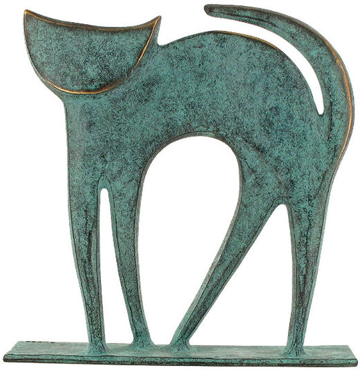 "Raimund Schmelter: Animal Plastic ""Cat"", Bronze"
