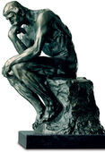 "Sculpture ""The Thinker"" (38 cm), version in polymer bronze"
