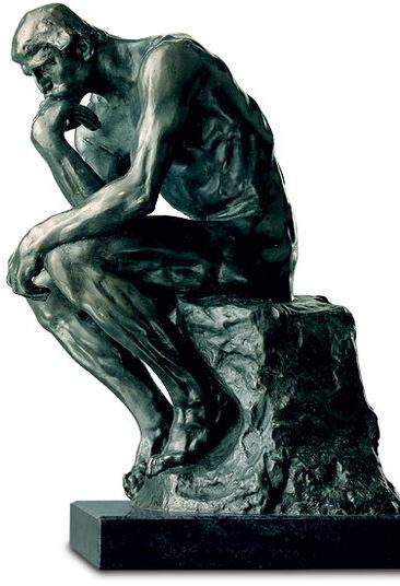 "Auguste Rodin: Sculpture ""The Thinker"" (38 cm), version in polymer bronze"