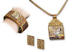 "Jewelry set ""Stoclet-Fries"" - after Gustav Klimt"
