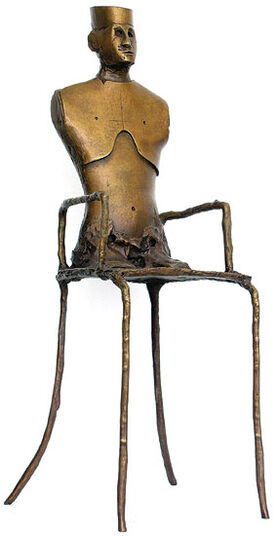 Paul Wunderlich: Sculpture 'Chairman II', bronze