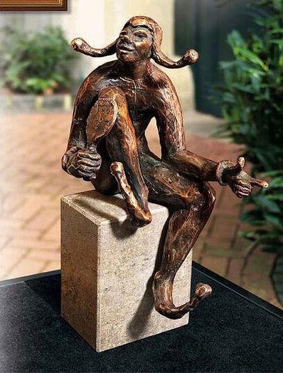 "Kurt Arentz: Skulptur ""Till Eulenspiegel"", Bronze"