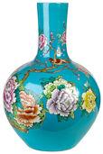 """Porzellanvase """"Wild Flower"""", blaue Version"""