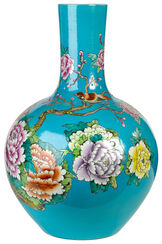 "Porcelain Vase ""Wild Flower"", Blue Version"