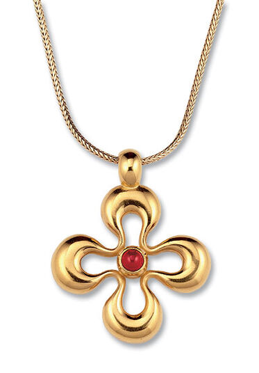 """Christiane Wendt: """"Lucky Blume"""", 925 Sterling silver gilded"""