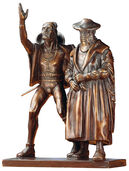 "Sculpture group ""Faust and Mephisto"", bronze reduction"