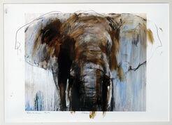 "Bild ""Elefant 2"" (2017) (Unikat)"