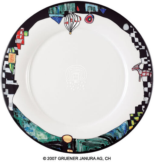 "Friedensreich Hundertwasser: Dinner Plate ""Ao Tea Roa"", 6-Part Set"