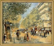 "Art print ""The Big Boulevards"" (1875), framed"